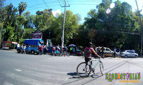 Rodada a favor de la ciclovía en Azcapotzalco